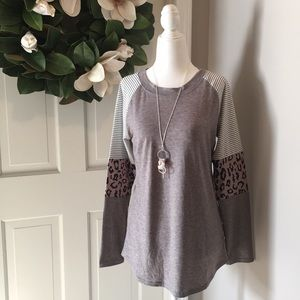 Tops - Super Soft Cheetah Accent Top